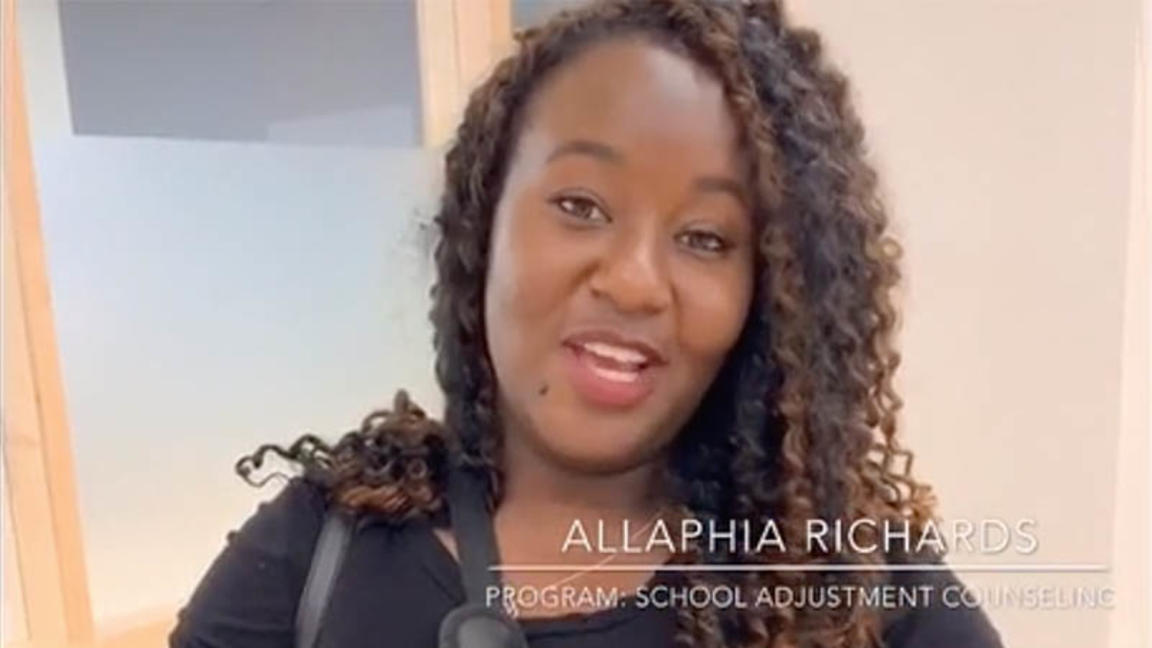 Allaphia Richards Cambridge College student