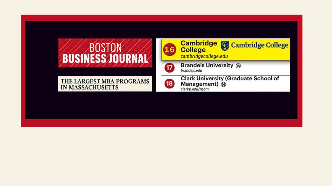 BBJ MBA rankings