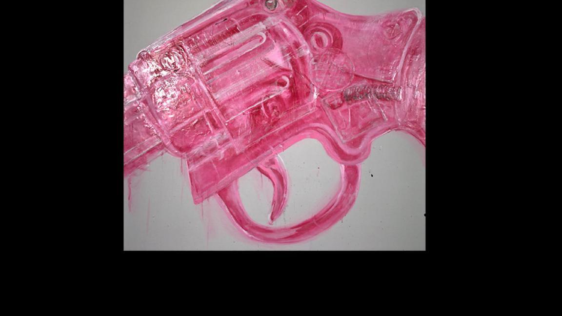 pink gun artwork
